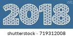 happy new year numbers 2018 for ...   Shutterstock .eps vector #719312008