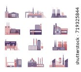 set of industrial factory and... | Shutterstock . vector #719325844