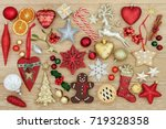 decorations and symbols of... | Shutterstock . vector #719328358