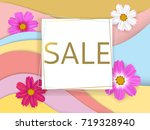 sale. floral vector background. ... | Shutterstock .eps vector #719328940