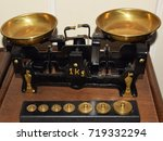 old scale   vintage isolated... | Shutterstock . vector #719332294
