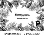 vintage design for christmas... | Shutterstock .eps vector #719333230