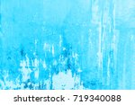 Abstract Blue Cement Wall...
