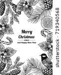 vintage design for christmas... | Shutterstock .eps vector #719340568