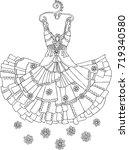 hand drawn dress. sketch for... | Shutterstock .eps vector #719340580