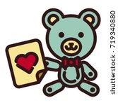teddy bear icon | Shutterstock .eps vector #719340880