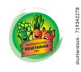 international vegetarian day | Shutterstock .eps vector #719342278