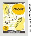 parsnip brochure concept design.... | Shutterstock .eps vector #719342710
