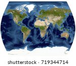 complete earth view from space. ... | Shutterstock . vector #719344714