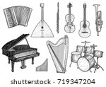 collection of musical... | Shutterstock .eps vector #719347204