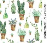 watercolor seamless pattern of... | Shutterstock . vector #719348020