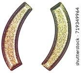 sparkling vintage printed... | Shutterstock . vector #719349964