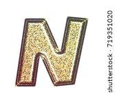 sparkling vintage printed... | Shutterstock . vector #719351020