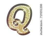 sparkling vintage printed... | Shutterstock . vector #719351200
