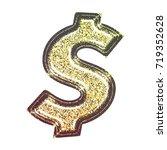 sparkling vintage printed... | Shutterstock . vector #719352628