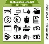 business finance icon set | Shutterstock .eps vector #719354050