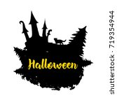 halloween creative background.... | Shutterstock .eps vector #719354944