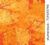 Orange Autumn Grunge Abstract...