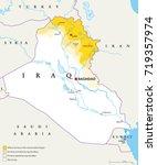 iraqi kurdistan region... | Shutterstock .eps vector #719357974