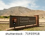 Coronado National Memorial sign