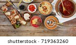 traditional italian vegetarian... | Shutterstock . vector #719363260