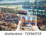 augmented reality transport and ... | Shutterstock . vector #719363719