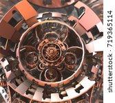 a complex three dimensional... | Shutterstock . vector #719365114