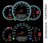 car dashboard   speedometer ... | Shutterstock .eps vector #719370964