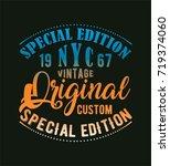 vintage  new york   typography  ... | Shutterstock .eps vector #719374060