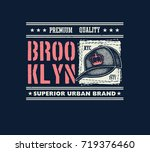 vintage urban typography with... | Shutterstock .eps vector #719376460
