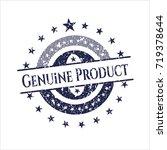 blue genuine product grunge... | Shutterstock .eps vector #719378644