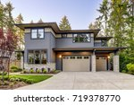 new construction home exterior... | Shutterstock . vector #719378770