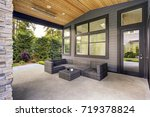 new modern home features a...   Shutterstock . vector #719378824