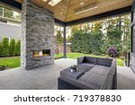 new modern home features a... | Shutterstock . vector #719378830