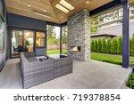 new modern home features a... | Shutterstock . vector #719378854