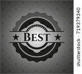best black badge | Shutterstock .eps vector #719379340