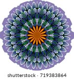 ornament on a white background. ... | Shutterstock . vector #719383864