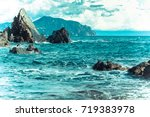 Rocky Shoreline And Turquoise...