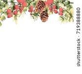 christmas vintage border... | Shutterstock . vector #719388880