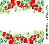 christmas border pattern from... | Shutterstock . vector #719388943