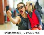 trick or treat. portrait of... | Shutterstock . vector #719389756