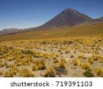 volcano licancabur in the...   Shutterstock . vector #719391103