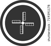 mill blades icon . dark circle...   Shutterstock .eps vector #719391178