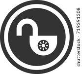 lock icon . dark circle sign...   Shutterstock .eps vector #719391208