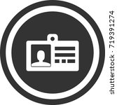 pass icon . dark circle sign...   Shutterstock .eps vector #719391274