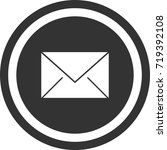 mail icon . dark circle sign...   Shutterstock .eps vector #719392108