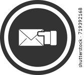 message icon . dark circle sign ...   Shutterstock .eps vector #719392168