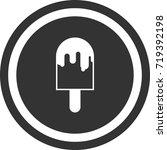 ice cream icon . dark circle...   Shutterstock .eps vector #719392198