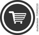 trolley in supermarket icon ....   Shutterstock .eps vector #719392210