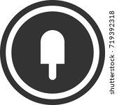 ice cream icon . dark circle...   Shutterstock .eps vector #719392318